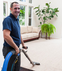 carpet cleaning man