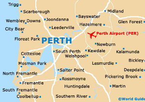 map of perth, wa