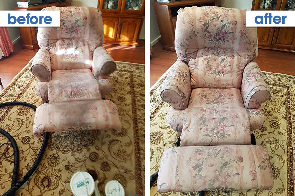 before after upholstery cleaning